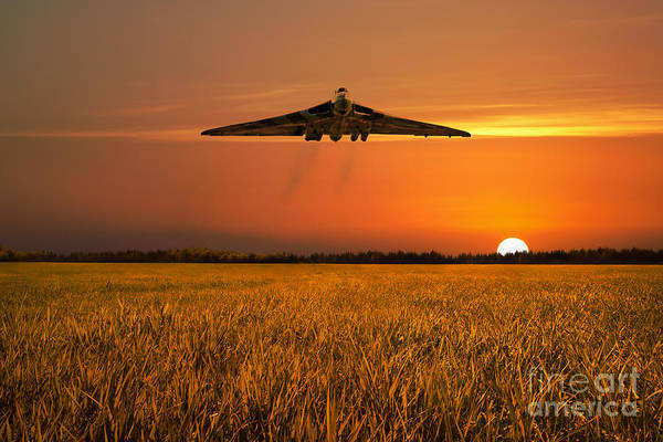 Avro Vulcan Wall Art - Digital Art - Vulcan Farewell Fly Past by J Biggadike