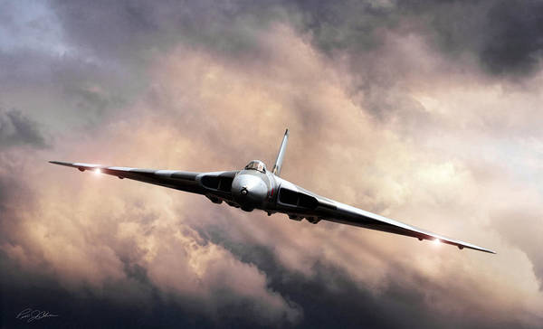Avro Wall Art - Digital Art - Vulcan Farewell by Peter Chilelli