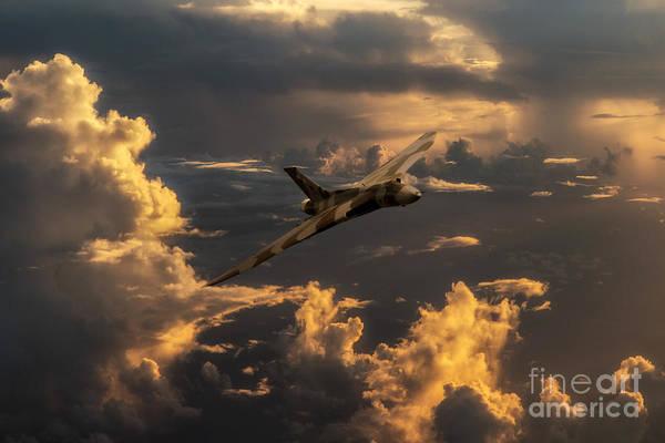 Falklands Digital Art - Vulcan Flying Forever by J Biggadike