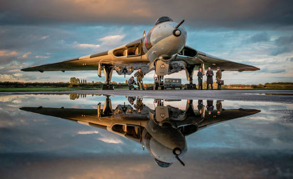 Avro Vulcan Wall Art - Photograph - Vulcan Reflected by Neil Atterbury