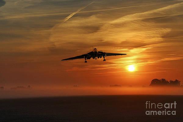 Falklands Digital Art - Vulcan Return To Base by J Biggadike