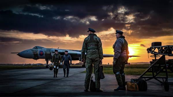 Vulcan Bomber Photograph - Vulcan Sunset by Neil Atterbury