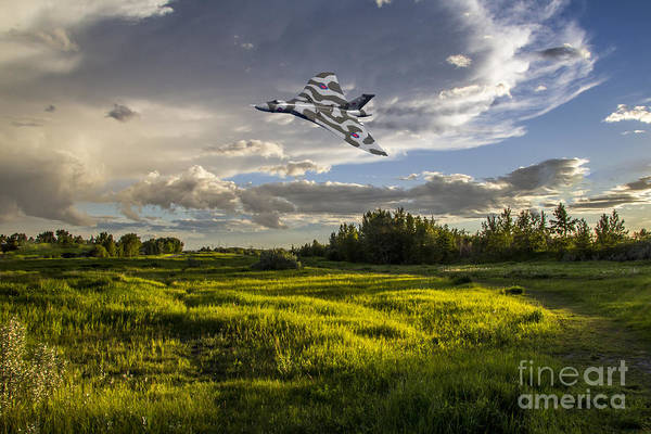 Falklands Digital Art - Vulcan Topside Pass by J Biggadike