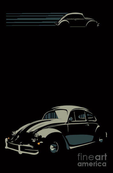 Wall Art - Digital Art - Vw Beatle by Sassan Filsoof