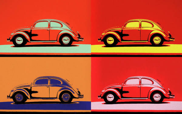 Painting - Vw Bug Pop Art by Dan Sproul