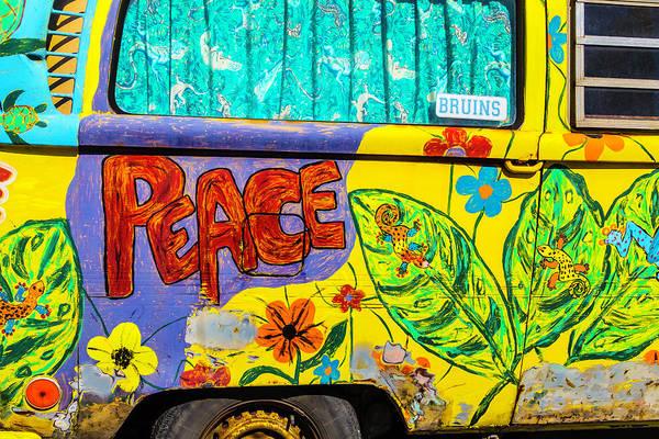 Wall Art - Photograph - Vw Peace Van by Garry Gay