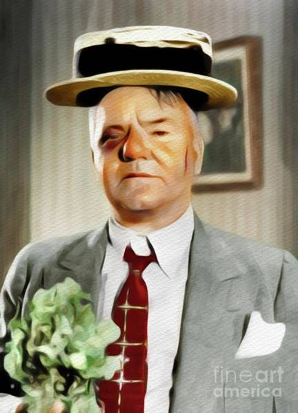 Wall Art - Painting - W. C. Fields, Vintage Comedian by John Springfield
