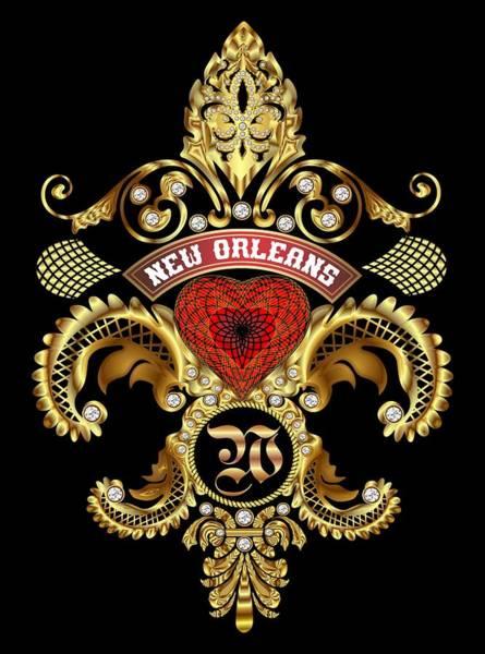 Deja Vu Digital Art - W-fleur-de-lis New Orleans Transparent Back Pick Color by Bill Campitelle