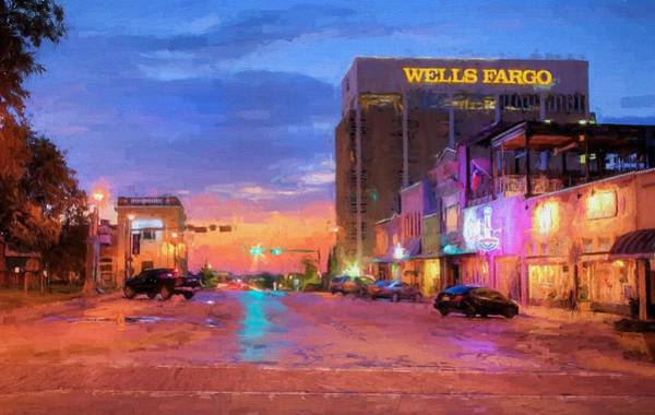 Wall Art - Digital Art - W Hickory Street Denton by JC Findley