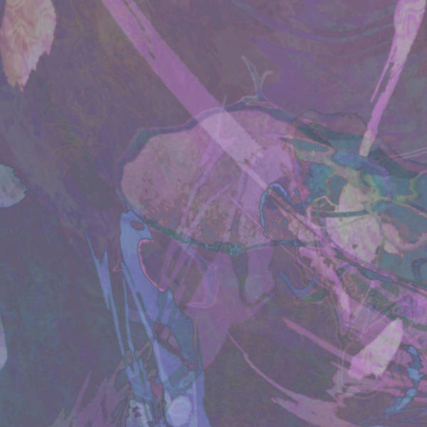 Digital Art - Wabi-sabi Ikebana Remix In Purple And Blue by Kristin Doner