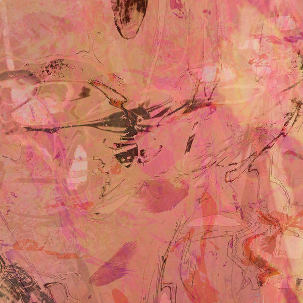 Mixed Media - Wabi-sabi Ikebana Remix Pink On Pink by Kristin Doner