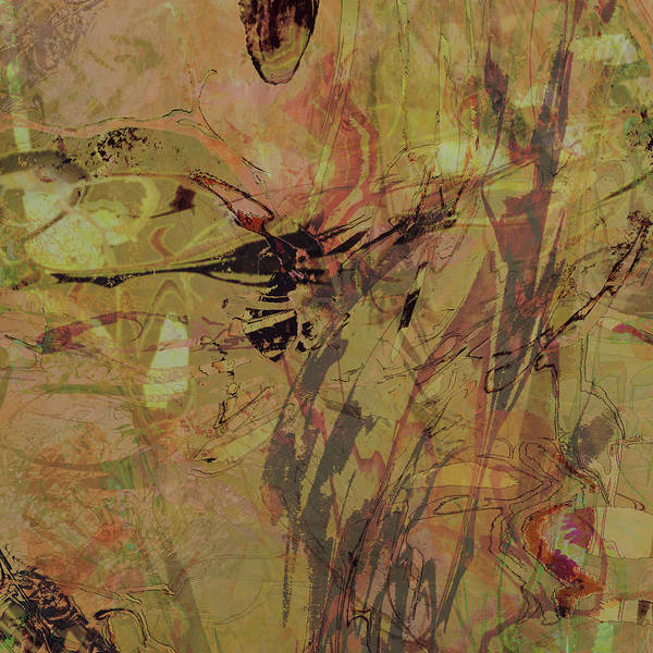 Mixed Media - Wabi-sabi Remix Pink And Yellow Green by Kristin Doner