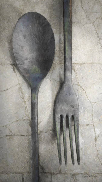 Kitchen Utensil Digital Art - Wabi Sabi Utensils by Cynthia Decker