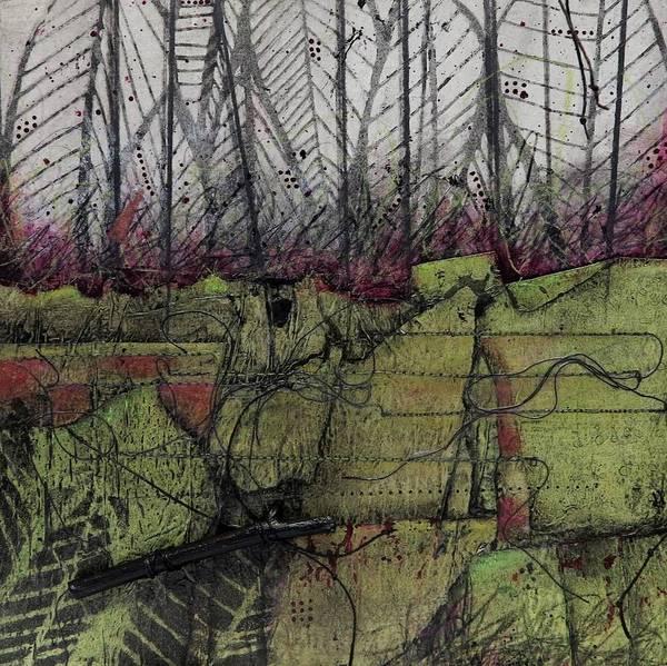 Thread Mixed Media - Wabi Sabi Walk In The Woods by Laura Lein-Svencner