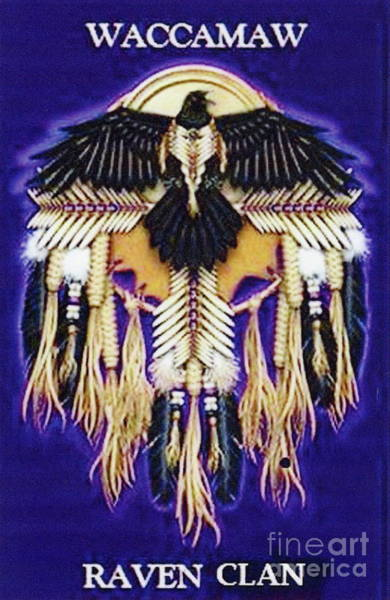 Digital Art - Waccamaw Raven Clan Crest by Stefan Duncan