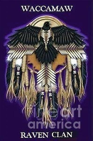 Digital Art - Waccamaw Raven Clan Logo by Stefan Duncan