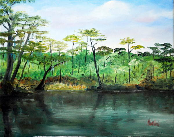 Painting - Waccamaw River - Impressionist by Phil Burton