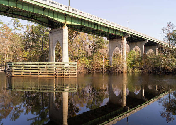 Photograph - Wacccamaw Memorial Bridge Autumn Afternoon by MM Anderson