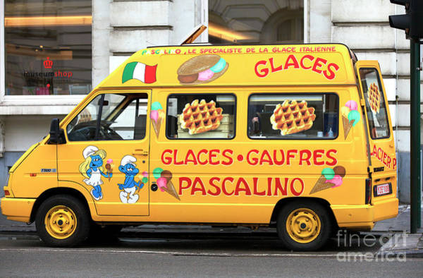 Photograph - Waffle Truck Brussels by John Rizzuto