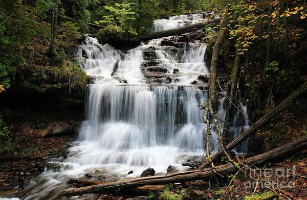 Photograph - Wagner Falls Autumn by Rachel Cohen
