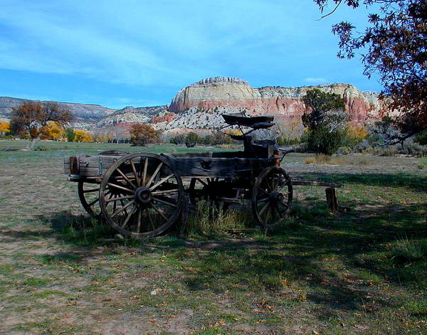 Photograph - Wagon And Kitchen Mesa by Joseph R Luciano