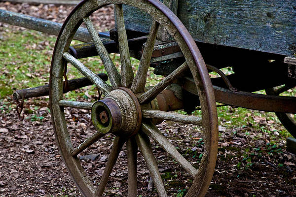 Photograph - Wagon At Mabry Mill by Mark Currier