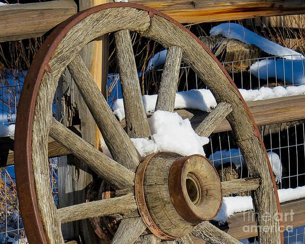 Wagon Wheel 1 Art Print