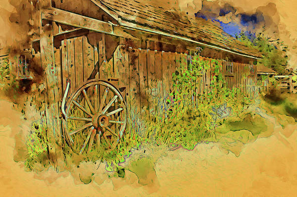 Digital Art - Wagon Wheel Gate by Richard Farrington
