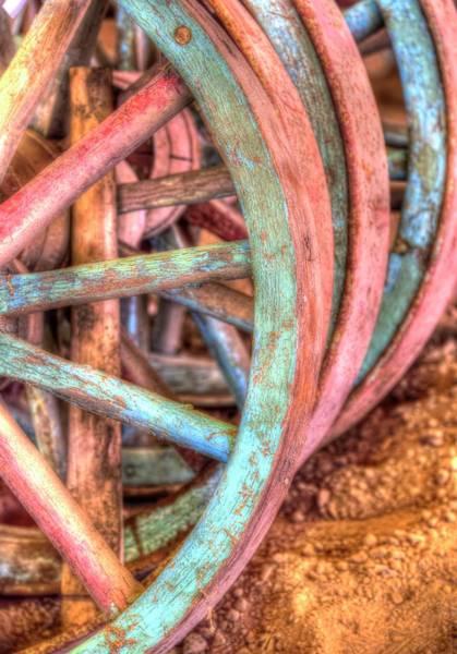 Photograph - Wagon Wheels by Jerry Sodorff