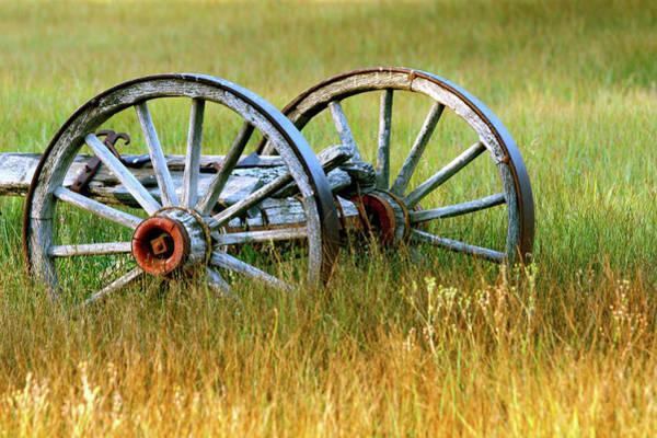 Wall Art - Photograph - Wagon Wheels by Melanie Alexandra Price