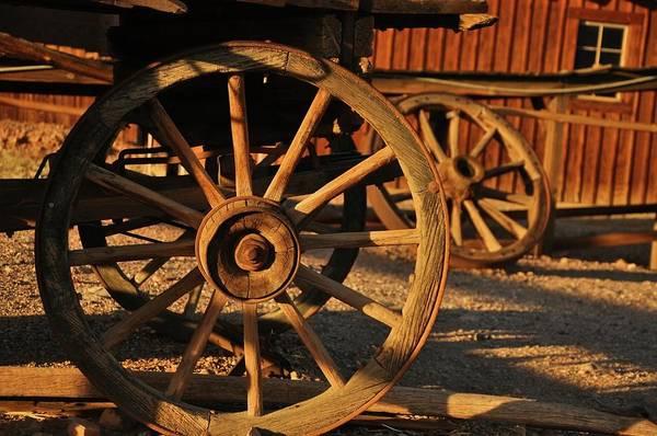 Wall Art - Photograph - Wagon Wheels by Nancy Morrison