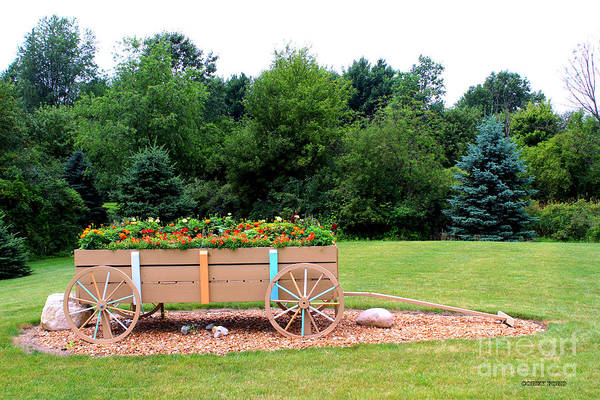 Wall Art - Painting - Wagon With Flowers by Corey Ford