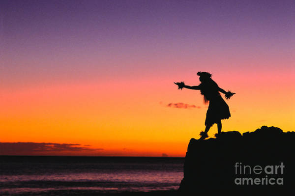 Hawaii Wall Art - Photograph - Wahine Hula Dancer by William Waterfall - Printscapes