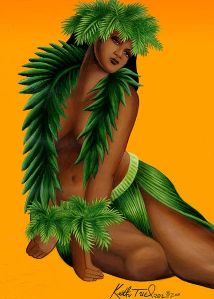 Wall Art - Painting - Wahine by Keith Tucker