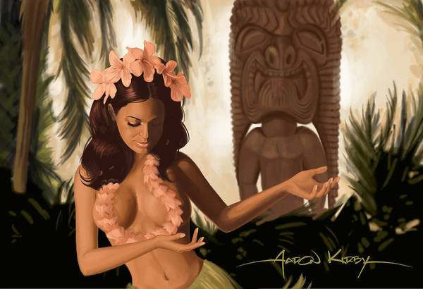 South Pacific Painting - Wahini by Aaron Kirby