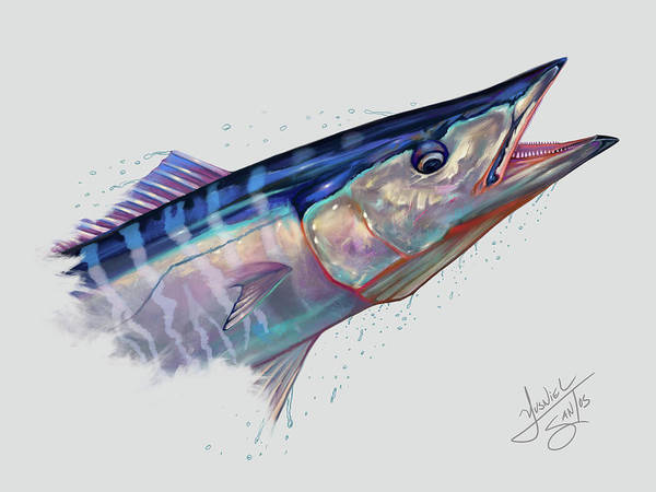 Wall Art - Digital Art - Wahoo Portrait  by Yusniel Santos