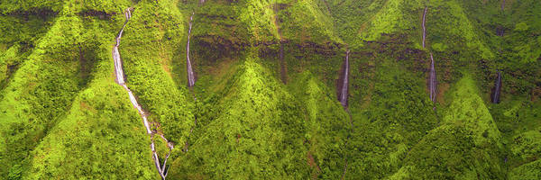 Photograph - Waialeale Waterfalls by Ryan Moyer