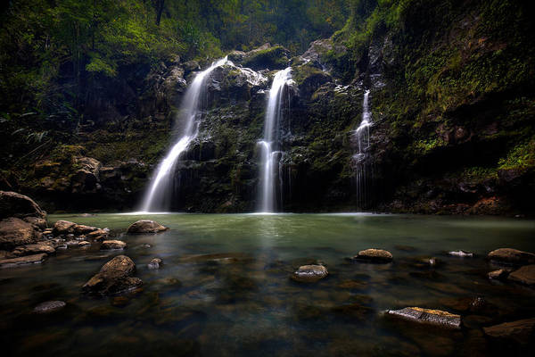 Photograph - Waikani Falls Maui by Ryan Smith