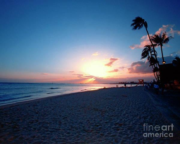 Wall Art - Photograph - Waikiki Beach Sunset by George Oze