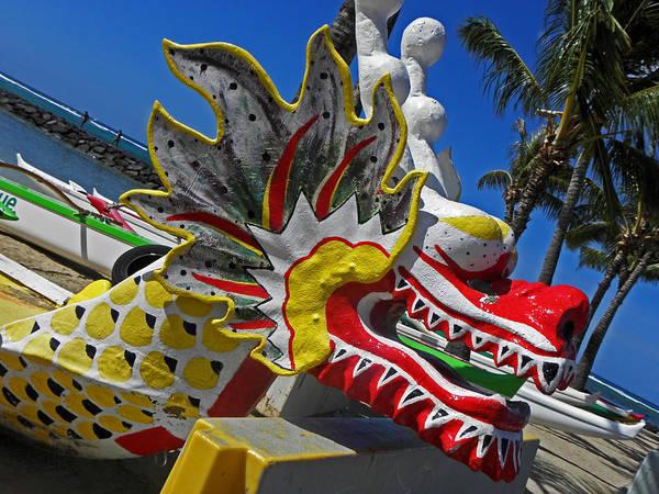 Dragon Boats Wall Art - Photograph - Waikiki Dragon by Elizabeth Hoskinson