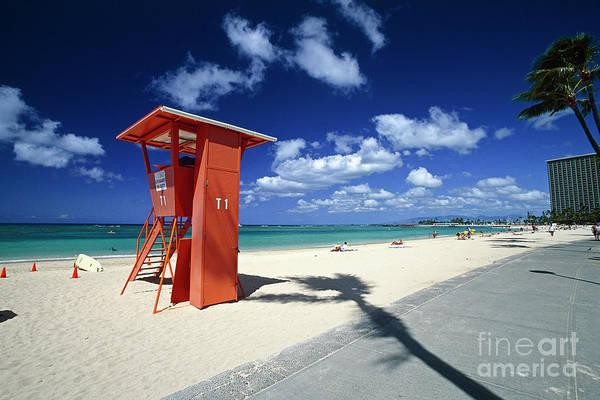 Wall Art - Photograph - Waikiki Lifeguard Tower by George Oze