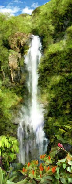 Photograph - Wailua Falls Maui Hawaii by Kurt Van Wagner
