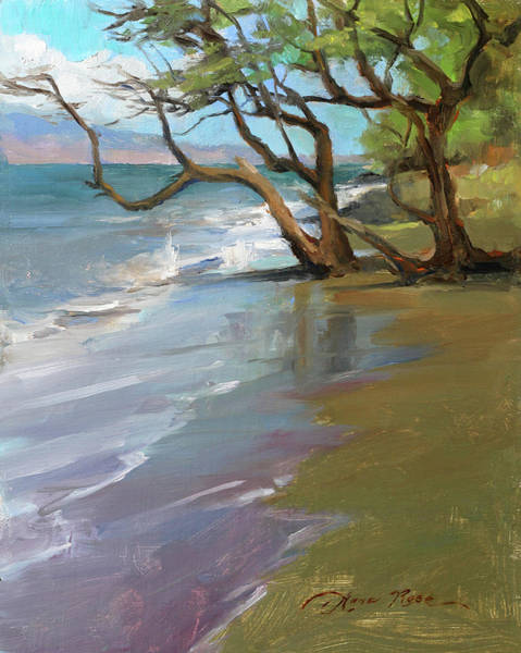 Wall Art - Painting - Wailuku Shoreline by Anna Rose Bain