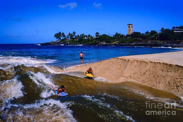 Photograph - Waimea Bay Beach Park by Thomas R Fletcher