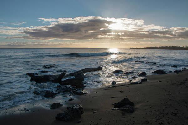 Photograph - Waimea Bay Sunset 3 by Teresa Wilson