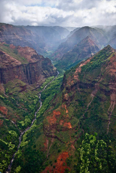 Waimea Canyon Photograph - Waimea Canyon Flyover by Thorsten Scheuermann