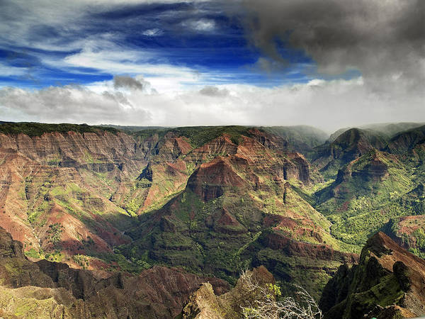 Waimea Canyon Photograph - Waimea Canyon Hawaii Kauai by Brendan Reals