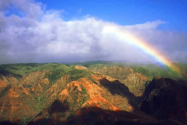Photograph - Kauai Hawaii - Waimea Canyon Rainbow by Peter Potter
