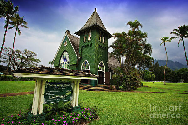 Photograph - Waioli Huiia Church On The Garden Island Of Kauai, Hawaii by Sam Antonio Photography