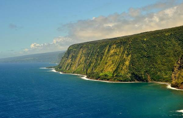 Photograph - Waipio Waterfall Coastline by Marilyn MacCrakin